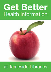 get better health information at Tameside Libraries postcard