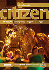 The Winter 2018 cover of the Tameside Citizen