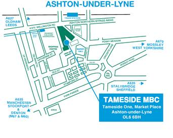 Image of where the Council Offices, Ashton-under-Lyne are located