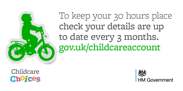 Apply now for 30 hours free childcare