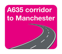A635 to Manchester