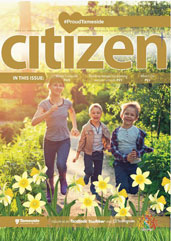 The Spring 2019 cover of the Tameside Citizen