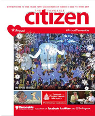 The Winter 2017 cover of the Tameside Citizen