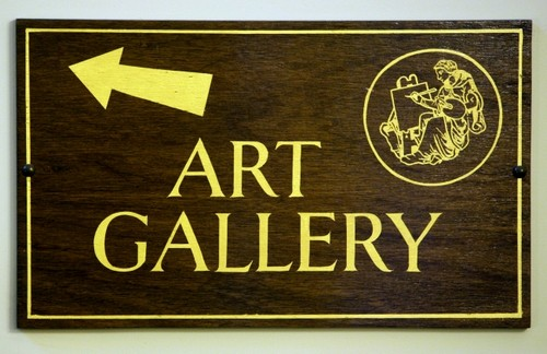 Image result for art gallery sign