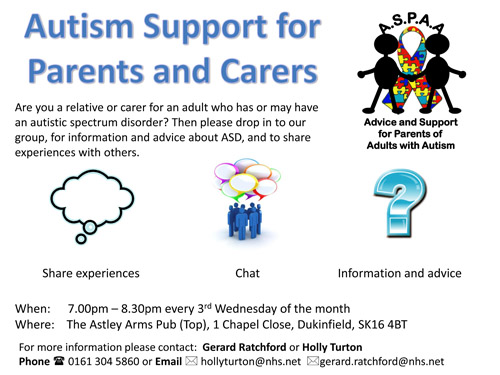 Autism Support for Parents and Carers advert