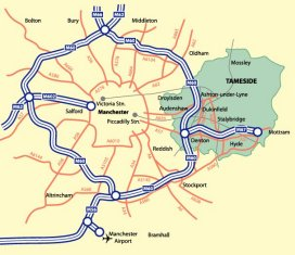 Tameside M60 RingRoad - Click the map to zoom