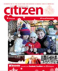 The Winter 2015 cover of the Tameside Citizen
