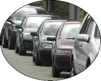 Picture of cars in a traffic queue
