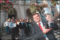 Picture of Councillor David Sweeton with the Trophy