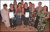 Picture of the award winners with Councillor Margaret Sidebottom