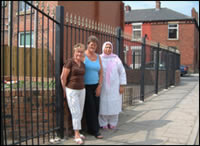 Alleygating Project - some residents who are taking part in the initiative