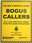 Poster that is displayed to all callers to your property - letting them know that they will need to show identification