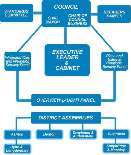 Diagram of council structure