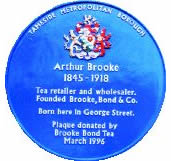 Blue Plaque for Arthur Brooke