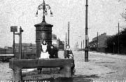 Transformer at the Trough, Audenshaw Road. The children are Sydney and Olive London (or Sandam) and Albert Pearce