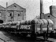Jones' Sewing Machine Factory, Hooley Hill, showing covered sewing machines in trucks ready for distribution