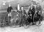 Graphic - Members of Dukinfield Cycling Club circa 1900s