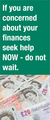 If you are concerned about your finances seek help NOW - do not wait