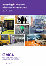 Investing in Greater Manchester transport 2013/2014 leaflet cover