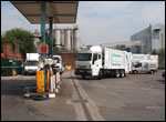 Image of a Dustbin Waggon at the Petrol Pump