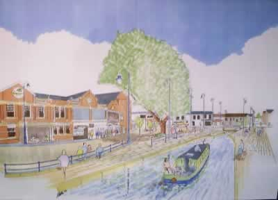 Artists Impression of Canal Through Armentieres Square