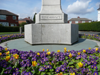 Droylsden War Memorial, Spring 2008