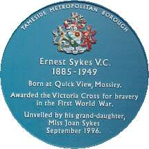 Blue Plaque for Ernest Sykes