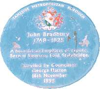 Blue Plaque for John Bradbury