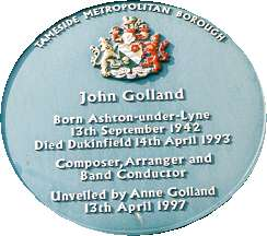 Blue Plaque for John Golland