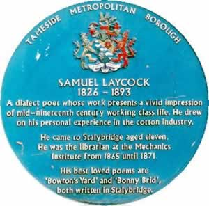 Blue Plaque for Samuel Laycock