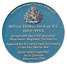 Blue Plaque for William Thomas Forshaw