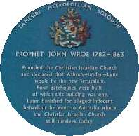 Blue Plaque for Prophet Wroe