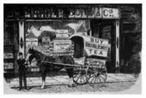 Etching of Tea Delivery Cart