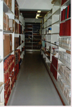 Image of the strongroom holding the Manchester Regiment Archive