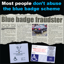 Most people don't abuse the blue badge scheme