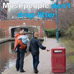 Most people don't drop litter