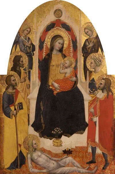 the Virgin and  Child with Angels and Saints - Master of the Straus Madonna