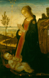 Virgin and Child painting from Astley Cheetham Art Collection