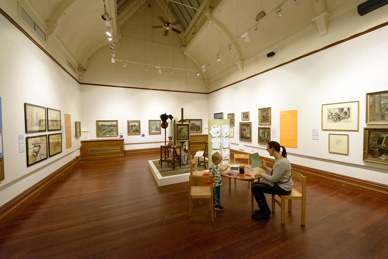 The Rutherford Gallery within Central Art Gallery