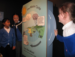 Pupils exploring the water cycle at waterworks
