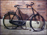 Photo of an old bicycle at Portland Basin Museum