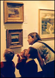 Photo of children visiting the Astley Cheetham Art Gallery