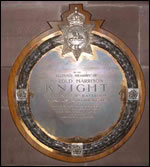 Knight plaque in St Albions Church