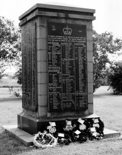 Ladysmith Memorial to those killed during the Siege
