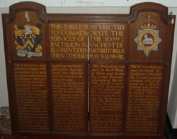 10th Battalion Memorial, Museum of the Manchester Regiment