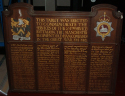 24th Battalion Memorial, Museum of the Manchester Regiment