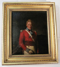 Painting of an Officer of the  63rd Regiment of Foot  after conservation
