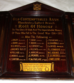 Old Contemptibles Association Roll of Honour, Museum of the Manchester Regiment