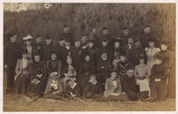 The officers, wives and children of the 5th Volunteer Battalion at annual camp, Blackpool, 1899 (MRP1/E/11).