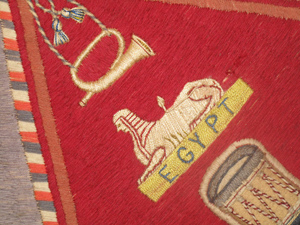 Part of a regimental 'Colour'